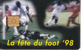 "MAURITIUS ISL. - Football, World Cup ""98, Chip GEM2.1, Tirage 30000, Used - Mauritius"