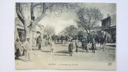 BATNA Afrique ALGERIE L´avenue De FRANCE Dromadaire CPA Animee Postcard - Batna