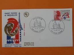 Philexfrance 1989 Tour Eiffel FDC St Pierre Et Miquelon 226 - FDC