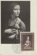 Carte-Maximum POLOGNE N°Yvert 880 / De Vinci / Dame à La Belette - Maximumkaarten