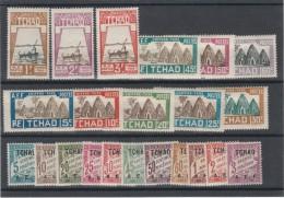 Tchad_   Timbres-Taxe _2  Série  1/11&12/22 (1928 )