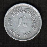 EGYPT---U.A.R.  10 MILLIEMES 1967 (AH 1386) (KM # 411) - Egypt
