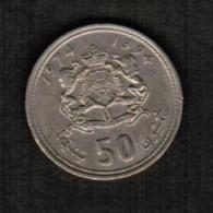 MOROCCO   50 SANTIMAT 1974 (AH 1394) (Y # 62) - Marokko