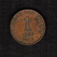 TRINIDAD TOBAGO  1 CENT 1968 (KM # 1) - Trinidad & Tobago