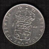 SWEDEN  1 KRONE 1971 (KM # 826a) - Sweden