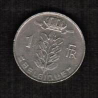 BELGIUM  1 FRANC (FRENCH) 1972 (KM # 142.1) - 1951-1993: Baudouin I