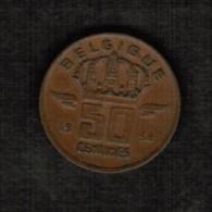 BELGIUM  50 CENTIMES (FRENCH) 1958 (KM # 148.1) - 1951-1993: Baudouin I