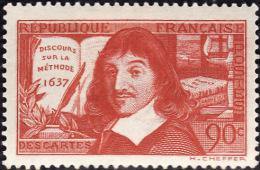 FRANCE  1937  -  Y&T 341  - Descartes  Discours Sur La Méthode-  NEUF** - Cote 4.30e - Unused Stamps