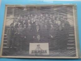 """"""" SINJORIA """" STUDENTEN VERENIGING ( Club ) Met NAMENLIJST Anno 1937 ( Achterzijde Namenlijst J. Geerts ) ! - Geïdentificeerde Personen"""