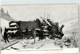 51036698 -Lligne Morteau Locle 1907 Accident De Chemin De Fer - NE Neuenburg