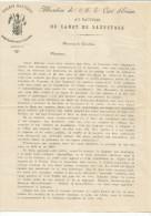 ALLOCUTION DU CURE D'EVIAN AU BAPTEME DU CANOT DE SAUVETAGE DE LA SOCIETE NAUTIQUE D'EVIAN LES BAINS 1894 - Non Classés