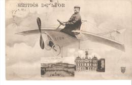 Tarjeta Postal Circulada De Lyon Aviation. - Lyon