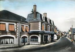 V352 Cpsm 41 Cour Cheverny - L' Hotel Des Voyageurs Et La Rue Nationale - Cheverny