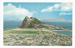 I3558 Aerial View Of Rock Of Gibraltar From Spain - Vista Aerea Vue Aerienne / Viaggiata 1964 - Gibilterra