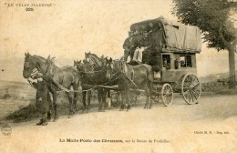 V382 Cpa 53 La Malle Poste Des Cévennes , Sur La Route De Pradelles - France