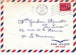 Réunion - Le Tampon Lettre Avec Flamme à Vagues 1974 - Lettre Avec Bequet CFA - Réunion (1852-1975)
