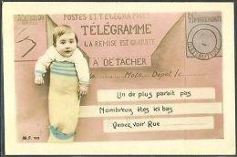 HV130 FAIRE PART De NAISSANCE TELEGRAM BIRTH ANNOUNCEMENT BABY PHOTO D'ART - Sin Clasificación