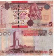 LIBYA  5 Dinars   P77    ND  2012   UNC - Libya