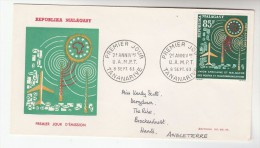 1963 MALAGASY FDC Stamps 85f TELECOM Cover - Telecom