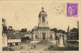 76 BOLBEC / L'Eglise Et Le Monument Aux Morts / - Bolbec