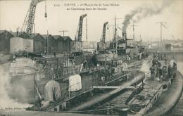 76 DIEPPE / 1ère Escadrille De Sous Marins De Cherbourg Dans Les Bassins / - Dieppe