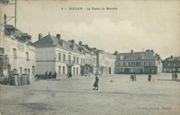 76 DUCLAIR / Place Du Marché /  CARTE TOILEE - Duclair