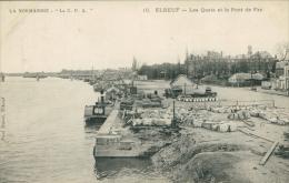 76 ELBEUF / Quais Et Le Pont De Fer / - Elbeuf
