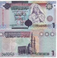 LIBYA  1 Dinars   P71    ND  2009   UNC - Libya