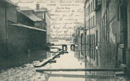 76 ELBEUF / Inondations De 1910, Rue Des Bains / - Elbeuf