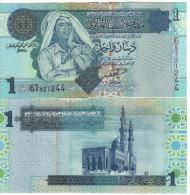 LIBYA  1 Dinars   P68a    ND  2004  Signature 9  UNC - Libya