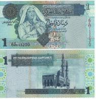 LIBYA  1 Dinars   P68b    ND  2004  Signature 10  UNC - Libye