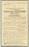 Meix Devant Virton Limes Alphonse Bernard Epoux De Laure Guillemin Instituteur Signeulx 1870 Limes 1944 - Meix-devant-Virton