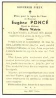 Meix Devant Virton Limes Eugene Poncé Epoux De Marie Watrin Saint Vincent 1879 Limes 1945 - Meix-devant-Virton