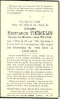 Rouvroy Lamorteau Epouse De Rene Wagner Ethe 1890 Lamorteau 1947 - Rouvroy