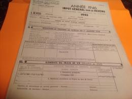 Année 1946 Impôt Général Sur Le Reven 1945 Luxiol Rougemont Hericourt - France