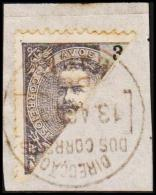 1903. 3 A. Bisected. (Michel: A 129) - JF192619 - Macao