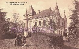 47 - ROQUEFORT - Le Château  De  Codoing -  Femme - Fillettes - Chien - Dos Vierge  -  2  Scans - France