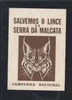 Lince.Let Us Save The Lynx Saw Malcata. Iberian Lynx. Lynx Pardinus.Sticker Of The Portuguese Campaign. - Animaux