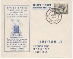 ISRAEL 1948 PRECURSEUR USED COVER - Israel