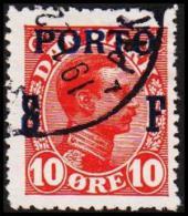 1921. Postage Due. Porto. Soldierstamp 10 Øre Red (Michel: P8) - JF192651 - Postage Due
