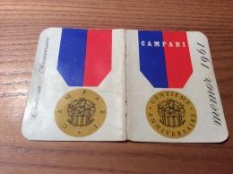 """Calendrier 1961 """"CAMPARI - CENTIÈME ANNIVERSAIRE"""" (10,5x15cm) - Petit Format : 1961-70"""