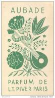 Parfum De L. T. Piver - ** Aubade ** - Carte Parfumée - Calendrier 1935 - Voir 2 Scans - Perfume Cards