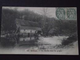 CROZANT (Creuse) - Un Moulin Dans Les Gorges - Voyagée Le 12 Mai 1907 - Crozant
