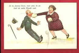 PBS-01  Boxe, Humour, Illustrateur, Si Ta Femme Boxe, Tu Es Tout De Suite K.O.  Non Circulé - Boxe