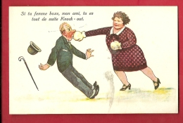 PBS-01  Boxe, Humour, Illustrateur, Si Ta Femme Boxe, Tu Es Tout De Suite K.O.  Non Circulé - Boxing