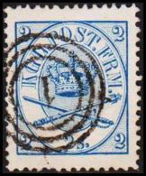 1865. Large Oval Type. 2 Skilling Blue. Perf. 13x12½ (Michel: 11A) - JF192694 - 1864-04 (Christian IX)