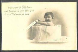 MY123 FAIRE PART De NAISSANCE BIRTH ANNOUNCEMENT Bébé BABY BOITE PHOTO D'ART - Sin Clasificación