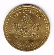 1992 Canada Camp Otterdale Lombardy Ontario $1 Tuck Token - Canada