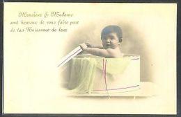 MY124 FAIRE PART De NAISSANCE BIRTH ANNOUNCEMENT Bébé BABY BOITE PHOTO D'ART - Sin Clasificación