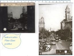 Lastra VETRO Circa Del 1930 PLATE GLASS - WASHINGTON Pennsylvania Avenue 45 - Diapositiva Su Vetro